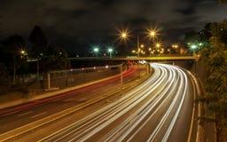 Autostrada Przy nocą Zdjęcie Stock