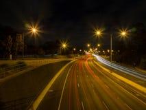 Autostrada Przy nocą Obrazy Stock