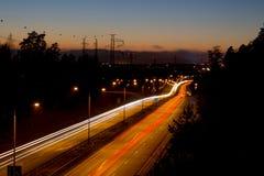 Autostrada ruch drogowy Obraz Stock