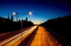 Autostrada ruch drogowy Zdjęcie Stock