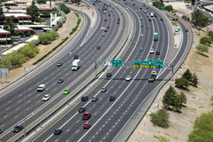 Autostrada ruch drogowy Obraz Royalty Free
