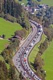 Autostrada ruch drogowy Zdjęcia Stock