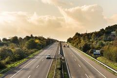 Autostrada ruch drogowy fotografia stock