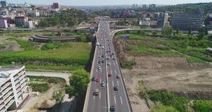 Autostrada, ruch drogowy Budowa w pobliżu zdjęcie wideo