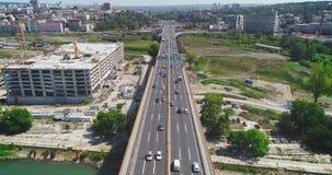 Autostrada, ruch drogowy Budowa w pobliżu zbiory