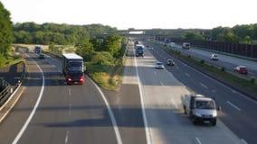 Autostrada ruch drogowy w wczesnych godzinach Zdjęcie Royalty Free