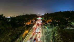 Autostrada ruchu drogowego czasu upływ zdjęcie wideo