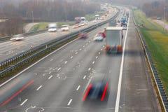 autostrada ruchu miejskiego życia Obrazy Royalty Free
