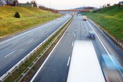 autostrada ruchu miejskiego życia Zdjęcia Royalty Free