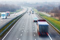 autostrada ruchu miejskiego życia Obraz Royalty Free