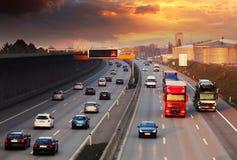 autostrada ruchu miejskiego życia Zdjęcia Stock