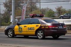 Autostrada samochód policyjny porozumienie Honda obraz stock