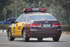 Autostrada samochód policyjny porozumienie Honda zdjęcia stock