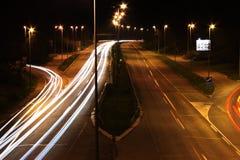 Autostrada samochodów światła Fotografia Stock
