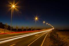 Autostrada samochodu światła Obrazy Stock