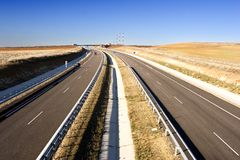 autostrada samotna Obraz Royalty Free