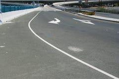 Autostrada senza pedaggio Fotografie Stock