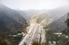 Autostrada senza pedaggio da uno stato all'altro 405 Immagini Stock Libere da Diritti
