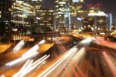 Autostrada senza pedaggio di Los Angeles Fotografia Stock Libera da Diritti