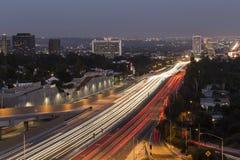 Autostrada senza pedaggio di Los Angeles Fotografie Stock Libere da Diritti
