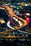 Autostrada senza pedaggio di Portland alla notte Fotografia Stock Libera da Diritti