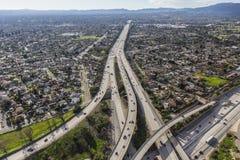 Autostrada senza pedaggio di San Fernando Valley 118 a Los Angeles Fotografie Stock Libere da Diritti