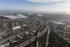Autostrada senza pedaggio di Ventura 101 all'itinerario 126 in California del sud Immagine Stock