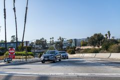 autostrada senza pedaggio 101 a Los Angeles Fotografie Stock Libere da Diritti