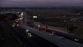 Autostrada senza pedaggio nel deserto della valle del sud dell'antilope di Californias stock footage