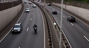 Autostrada senza pedaggio occupata immagini stock libere da diritti