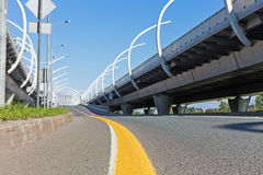 Autostrada senza pedaggio vuota Immagini Stock Libere da Diritti