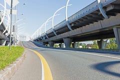 Autostrada senza pedaggio vuota Fotografie Stock
