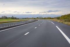 Autostrada senza pedaggio vuota Fotografia Stock