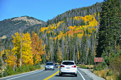 Autostrada 34, Skalistej góry park narodowy Zdjęcie Stock