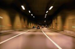 autostrada tunel Zdjęcia Royalty Free
