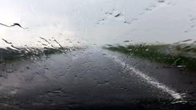 Autostrada ulewny deszcz zdjęcie wideo