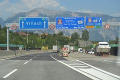 Autostrada, Villach, aus Italien nach Österreich, stockbilder