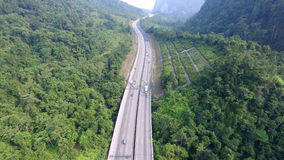 Autostrada w środku dżungla Zdjęcie Stock