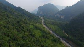 Autostrada w środku dżungla Zdjęcia Royalty Free