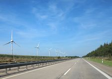 Autostrada w Europa prosto naprzód Zdjęcia Royalty Free