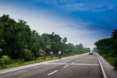 Autostrada w ind Fotografia Stock