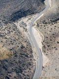 Autostrada w Nevada widzieć od helikopteru Zdjęcie Stock