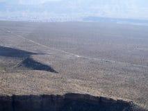 Autostrada w Nevada widzieć od helikopteru Fotografia Royalty Free