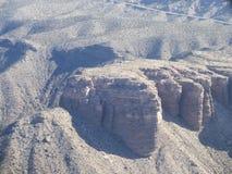 Autostrada w Nevada widzieć od helikopteru Zdjęcia Royalty Free