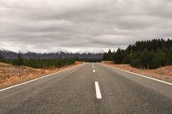 Autostrada w nowym Zealand Zdjęcie Stock