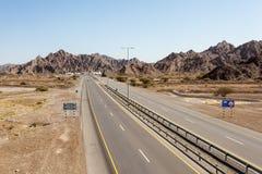 Autostrada w Oman Fotografia Royalty Free