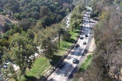 Autostrada wśród drzew Obrazy Stock