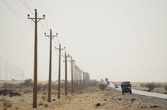 Autostrada w Sudan pustyni Obraz Royalty Free