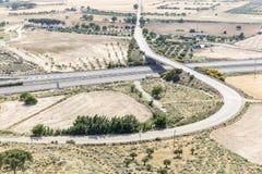 Autostrada w Szynszyli De Monte Aragon Zdjęcia Stock
