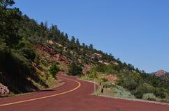 Autostrada w Zion parku narodowym Fotografia Stock